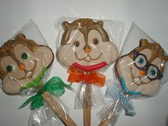 Cookie Stick - Alvin The Chipmunks & Friends (3) by Lily's Homemade, via Flickr