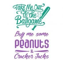 Baseball Word Art SVG Cuttable Design