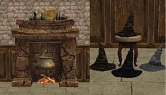 Decat's Sims 2 Creations: Harry Potter Conversions + a TSM Fireplace and Witch Hat