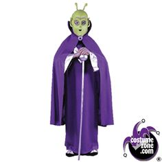 Alien Mask with Cape Child | Alien Halloween Mask with Cape Child |