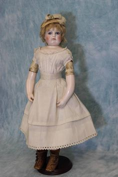 "14"" Antique Rohmer Doll Orig.Trousseau, swivel head,porcelain arms & from turnofthecenturyantiques on Ruby Lane"