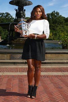Serena Williams Celebrates Her US Open Win