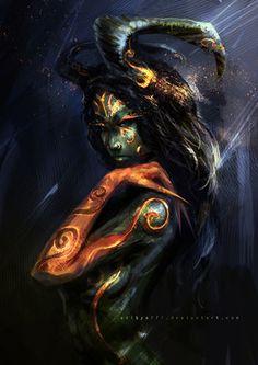 """scifi-fantasy-horror: """" Demon Queen - 01 by """" Dark Fantasy Art, Fantasy Kunst, Dark Art, Character Inspiration, Character Art, Daily Inspiration, Sketchbook Inspiration, Art Sketchbook, Design Inspiration"""
