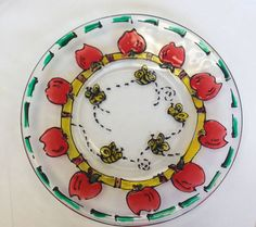 Make a beautiful hand-painted honey plate for Rosh Hashanah.