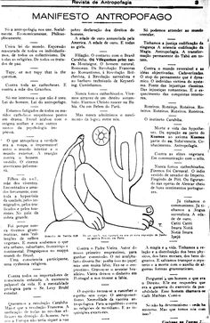 Manifesto Antropófago - Semana de Arte Moderna de 22