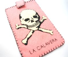 la calavera loteria mexicana ipod iphone case by romualda on Etsy, $24.50