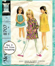 Vintage 1967 McCalls 8707 Pattern Girls A Line by madforvintage, $7.25