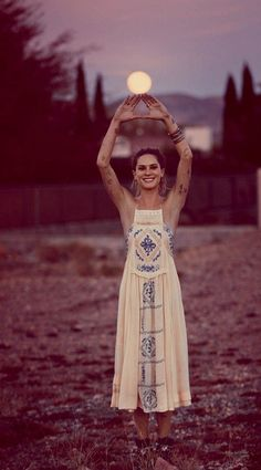 Adorable shot of Erin Wasson in a dreamy boho maxi for Free a People. I'm not into the tatts but man, she's cute!