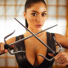 We all need someone who can handle our ninja side! Who's your favorite sexy badass?  #bts  @itspostas #kickass #ariannyceleste #mma #ufc #karatevideo @r3hab