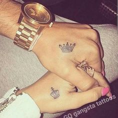 His n hers but on the ring finger instead