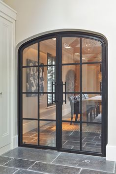 Discover recipes, home ideas, style inspiration and other ideas to try. Front Doors With Windows, Arched Doors, Indoor Glass Doors, Neutral Bedroom Decor, Tiny House Exterior, Rustic Home Design, Beautiful Home Designs, Architectural Features, Patio Doors