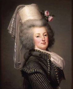 """""""Artist: Adolf Ulrik Wertmüller (1751–1811)   Marie Antoinette of Austria, Queen of France (1755-1793)  Date 1788  Medium oil on canvas  Dimensions 65.5 × 54.4 cm (25.8 × 21.4 in)  Current location: Palace of Versailles"""""""