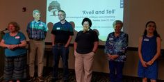 Kvell and Tell speakers answer questions at the June 25, 2017, Jewish Genealogical Society of Illinois meeting.
