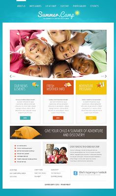 Summer Camp Joomla Templates by Delta