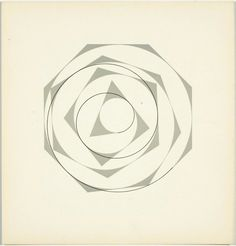 Max Bill, from 'Quinze variations sur un même thème', Max Bill, Josef Albers, Sacred Geometry, Folklore, Typography, Symbols, Letters, Abstract, Dark Side