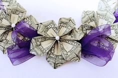 Custom Money Lei by AdorablyRabid on Etsy, $70.00