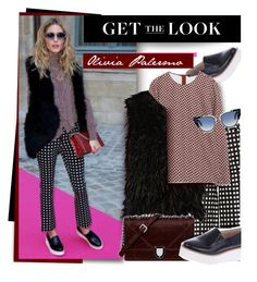 """Get The Look: Oliva Palermo"" by hamaly ❤ liked on Polyvore featuring Sol Sana, self-portrait, Fendi, women's clothing, women, female, woman, misses and juniors"