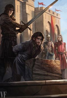 """joannalannister: """"By Magali Villeneuve for the 20th Anniversary Illustrated Edition of A Game of Thrones, to be released on October 18, 2016 (via Vanity Fair) """" A thousand voices were screaming, but Arya never heard them. Prince Joffrey … no, King..."""