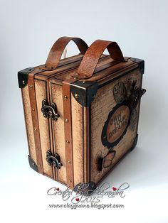 *ClayGuana: Vintage Style Suitcase with a Drawer-Album