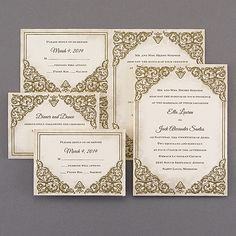 Baroque Beauty Sep 'n Send Wedding Invitation Sets 40% OFF  |  http://mediaplus.carlsoncraft.com/Wedding/Wedding-Invitations/3159-VZ30707-Baroque-Beauty--Sep-n-Send.pro  |  VZ30707 A vintage baroque design is featured on this trendy invitation.