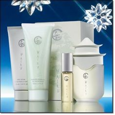 Haiku Gift Set by Avon. $19.50. GIFT SET IS A $ 42.00 VALUE. SET INCLEDES 1-? Eau de Parfum Spray. 1-? Shower Gel. 1-Body Lotion. 1-Eau de Parfum Spray. A soft, warm floral evoking the serenity of a beautiful Japanese garden, blooming with delicate jasmine, lilies and citrus Boxed collection includes:  ? Eau de Parfum Spray 1.7 fl. oz.  ? Eau de Parfum Spray .5 fl. oz.  ? Shower Gel 3.4 fl. oz.  ? Body Lotion 3.4 fl. oz.