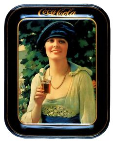 VINTAGE, EL GLAMOUR DE ANTAÑO: Bandejas y Posavasos Retrovintage (Publicidad Coca - Cola) (1ª entrega)