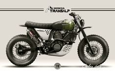 Honda Transalp 600v Scrambler design for a private client by Nuno Capêlo - Capêlo's Garage