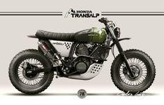 Honda Transalp 600v Scrambler design for a private client by Nuno Capêlo - Capêlo's Garage #motorcycles #scrambler #motos | caferacerpasion.com
