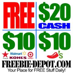 ►► SMOKING HOT OFFER ►► FREE $20 cash + $10 Walmart/Target Gift Card + $10 Chili's - Exp 12/20/14