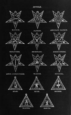 "Robert Macoy - Jewels of Freemasonry, ""Ritual of the Order of the Eastern Star"", 1876."