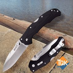 The Cold Steel Swift I Plain Edge Knife has the astonishing speed and smoothness of an assisted opening knife, but with the strength you have come to expect from Cold Steel.