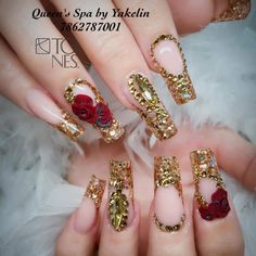 Nail Designs are continually changing, but one thing that doesn't change is the effect a good manicure can have on Fabulous Nails, Gorgeous Nails, Pretty Nails, Cute Acrylic Nails, Acrylic Nail Designs, Nail Art Designs, Pastel Nails, Bling Nails, Gold Nails