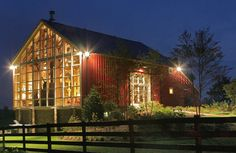 """Adaptive reuse of an 1800s bank barn into a """"party barn"""" to host gatherings of friends and family."""