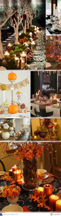 Lovely Fall Tablescapes