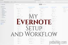 My Evernote Setup and Workflow Hacking Websites, Sales Techniques, Life Organization, Organizing Life, Evernote, Marketing Quotes, Travel Design, Thats The Way, Blogger Tips