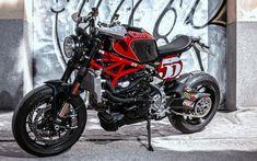 Ducati Monster 1200 R Custom Moto Ducati, Ducati Motorcycles, Moto Guzzi, Cars And Motorcycles, Ducati Monster 821, Ducati Monster Custom, Modern Cafe Racer, Cafe Racer Style, Monster 1200 R
