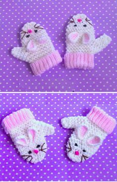 Crochet Bunny Mittens - DESIGN BIRDY Crochet Bunny Mittens Learn the rudiments of how to crocheting, Easter Crochet, Crochet Bunny, Crochet For Kids, Knit Crochet, Crochet Baby Mittens, Crochet Gloves, Crochet Hooks, Easy Crochet Patterns, Baby Knitting Patterns