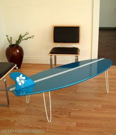 Surf Board Coffee table  Eames Era Mid by lunarloungedesign, $350.00