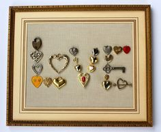 Vintage jewelry artwork.  Hearts = Love! #jewelryfindsllc #jewelryfindscom