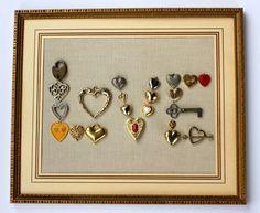 Vintage jewelry artwork. Hearts = Love! #jewelryfindsllc #jewelryfindscom