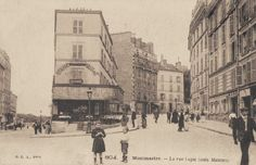 La rue Lepic, coin avec la rue Joseph-de-Maistre...