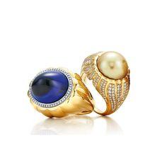 Tiffany Blue Book tanzanite and pearl rings