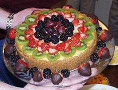 "fruit covered cheescake ""heaven"""