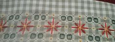 Chicken Scratch Embroidery, Gingham Fabric, Household Items, Needlework, Cross Stitch, Quilts, Sewing, Crafts, Log Projects