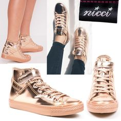 Stunning shoes now at #Nicci stores & online www.nicci.co.za  #sneaker #rosegold #trend