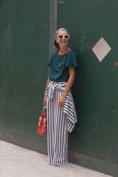 Los protagonistas del street style - Los pantalones oversize en otoño 2014-2015 - TELVA.com