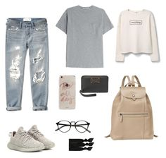 """Outfit for school"" by alyssamendm11 on Polyvore featuring Abercrombie & Fitch, adidas Originals, T By Alexander Wang, Sonix, Marc by Marc Jacobs, Longchamp, MANGO and Emi-Jay"