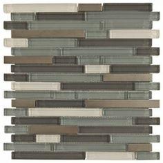 Aruba Brick Mosaic Glass & Metal Tile - $7.99 | Glass Tile | Floor & Decor  Accent wall in shower (big wall)