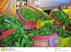 califlower in a peach basket at a farmer's market - Bing images