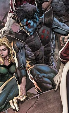 Marvel Heroes: Nightcrawler Marvel Comic Character, Comic Book Characters, Comic Book Heroes, Marvel Characters, Comic Books Art, Comic Art, Marvel Comics Art, Marvel Dc Comics, Anime Comics